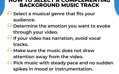 How to Select a Complementing Background Music Track