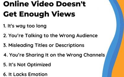 6 Reasons Why Your Online Video Doesn't Get Enough Views