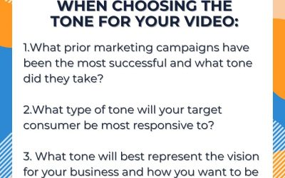 Questions to Consider in Choosing the Tone for Your Video